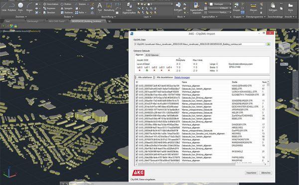 AKG CAD TOOLS für AutoCAD-Systeme und BricsCAD | CityGML