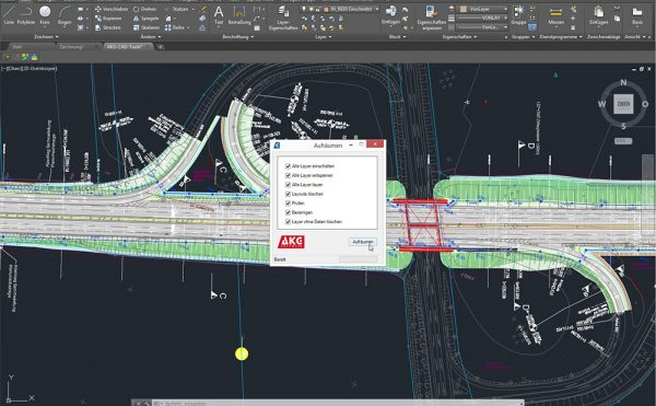 AKG CAD TOOLS für AutoCAD-Systeme und BricsCAD | Aufräumen