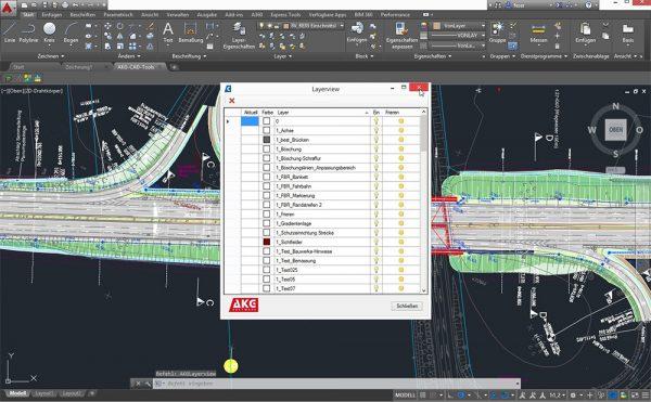 AKG CAD TOOLS für AutoCAD-Systeme und BricsCAD | Layerview